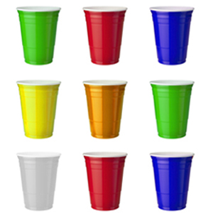 rubik's cube party cups