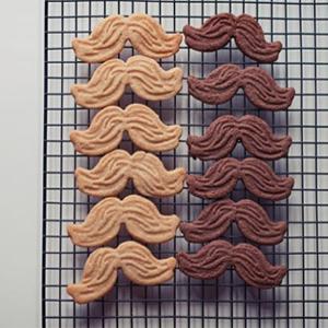 mustache cookies 2