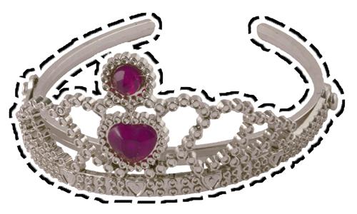 tiara cutout