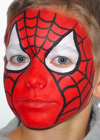 Spider-Man Face Paint - PrivateIslandParty.com Blog