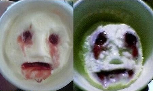 melting ice cream faces