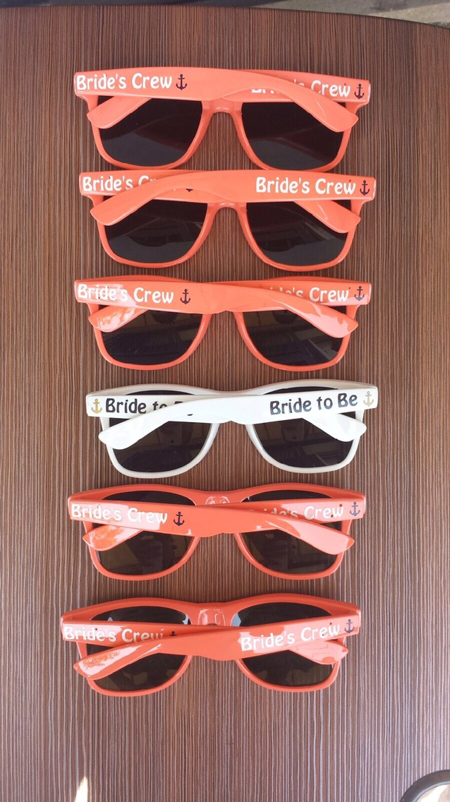 Wedding Customized Sunglasses | Wedding Party Sunglasses | How to ...
