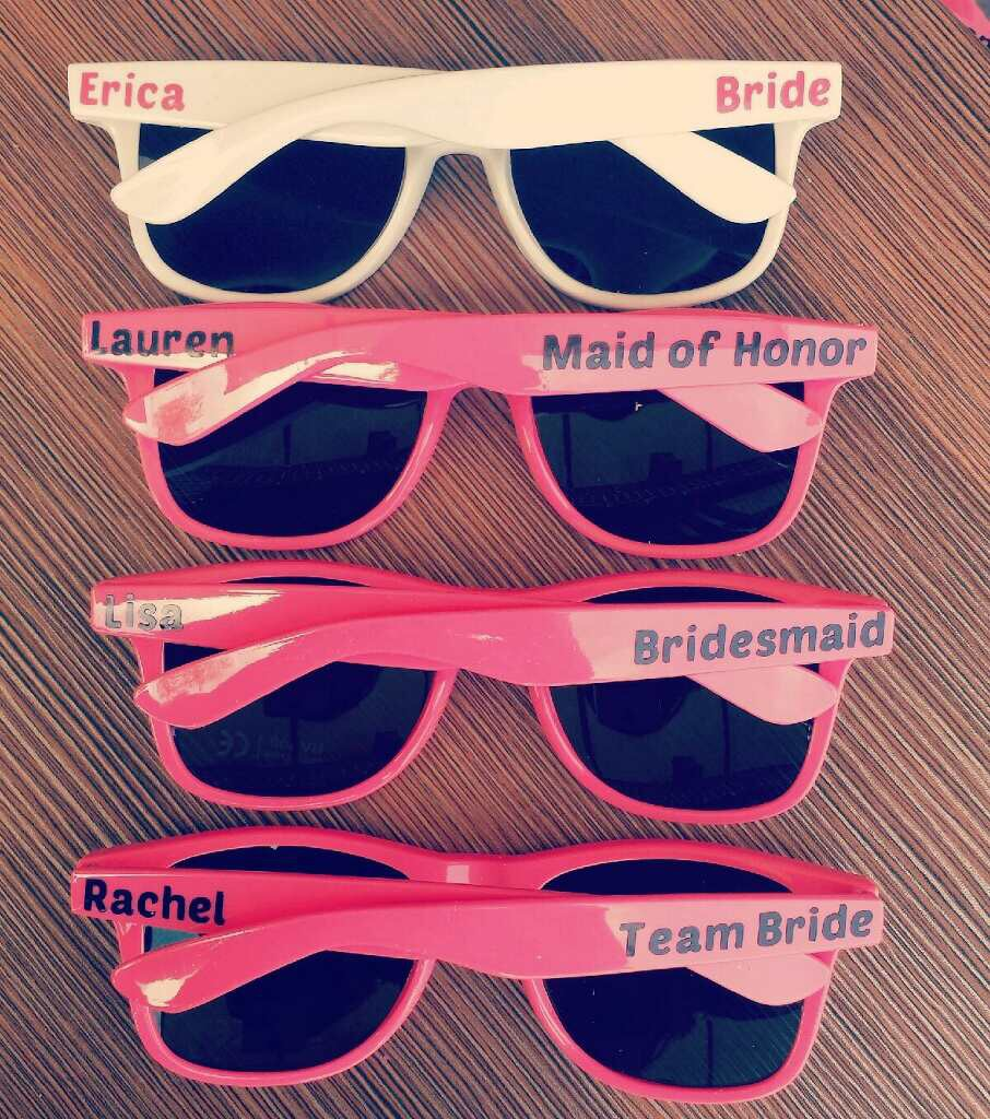 Hot Pink Customized Sunglasses