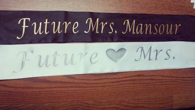 bridal shower sash customized sashes personalized for birthday party bridal party wedding